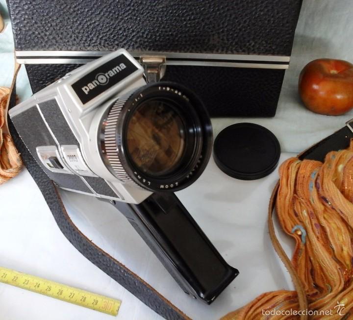 Cámara de fotos: VIEJA CÁMARA DE VÍDEO MARCA PANORAMA. EN SU MALETÍN ORIGINAL. SUPER-8: - Foto 2 - 57084758
