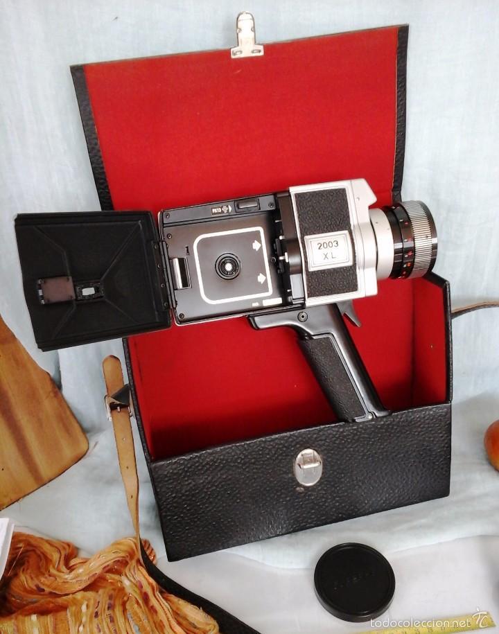 Cámara de fotos: VIEJA CÁMARA DE VÍDEO MARCA PANORAMA. EN SU MALETÍN ORIGINAL. SUPER-8: - Foto 3 - 57084758