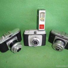 Cámara de fotos: RARO LOTE CAMARA FOTOS ANTIGUA NERASPORT DACORA DIGNA AGFA ISOLA I AÑOS 1950 FOTOGRAFIA VINTAGE. Lote 57400756