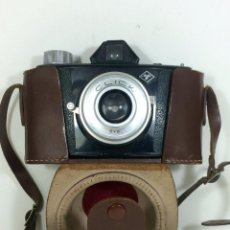 Photo camera - Cámara Fotográfica Agfa Click 6x6 Con su funda y correa de cuero. - 67236229