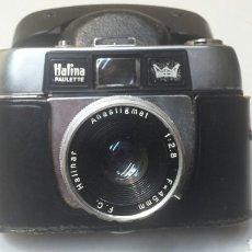 Cámara de fotos: CAMARA ANTIGUA HALINA PAULETTE CON FUNDA CUERO ORIGINAL. Lote 71553501