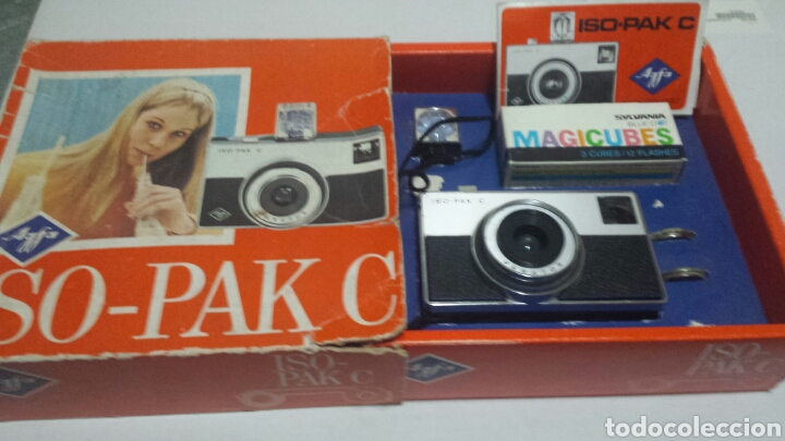 CÁMARA DE FOTOS AGFA ISO-PAK C EN CAJA ORIGINAL Y LIBRO INSTRUCCIONES (Cámaras Fotográficas - Clásicas (no réflex))
