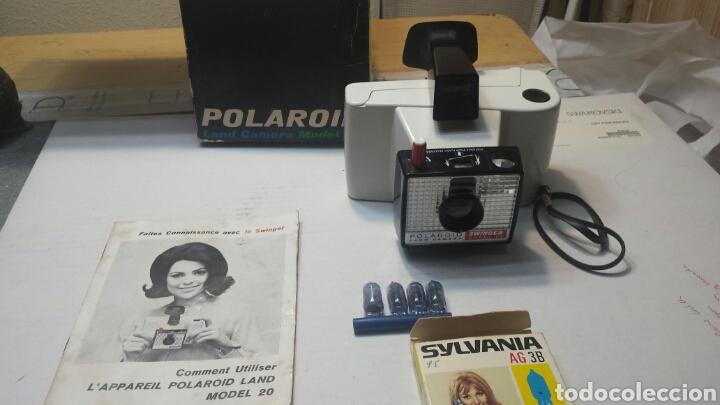 CÁMARA DE FOTOS ANTIGUA POLAROID MODELO 20 COMPLETA EN CAJA ORIGINAL Y MANUAL INSTRUCCIONES (Cámaras Fotográficas - Clásicas (no réflex))
