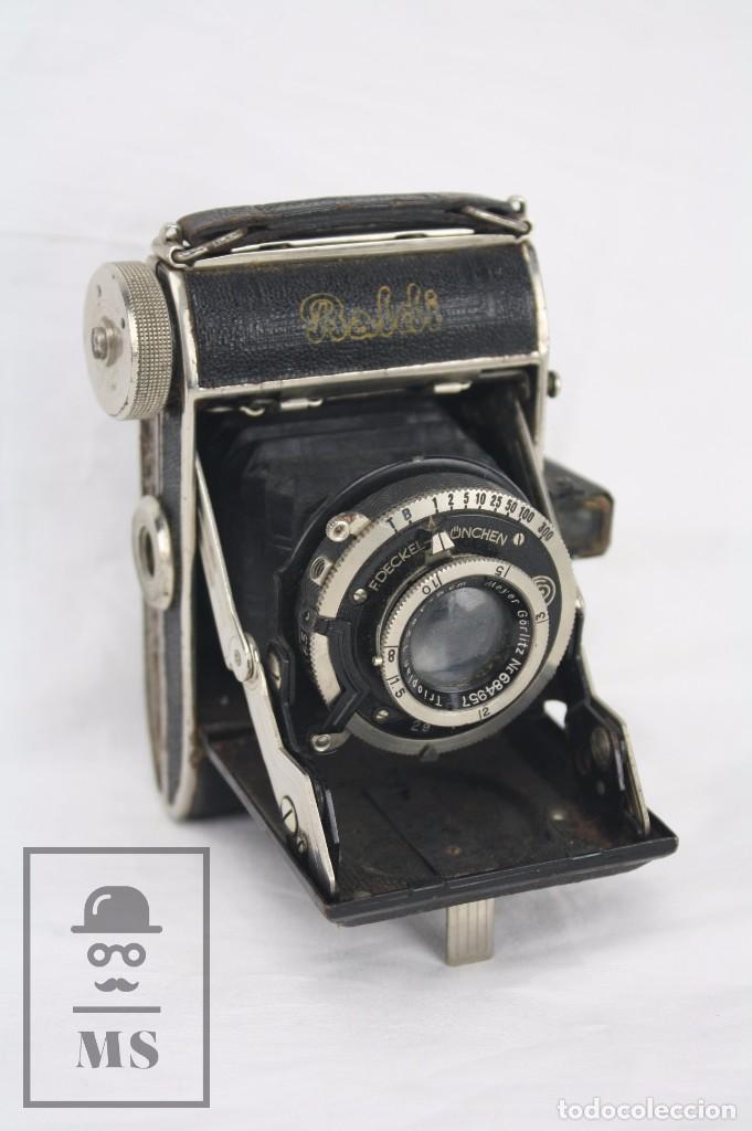 ANTIGUA CÁMARA FOTOGRÁFICA DE FUELLE - BALDI, DE BALDA - OBJETIVO COMPUR - ALEMANIA, AÑOS 30 (Cámaras Fotográficas - Clásicas (no réflex))