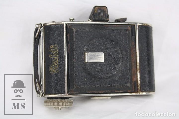 Cámara de fotos: Antigua Cámara Fotográfica de Fuelle - Baldi, de Balda - Objetivo Compur - Alemania, Años 30 - Foto 4 - 74387799