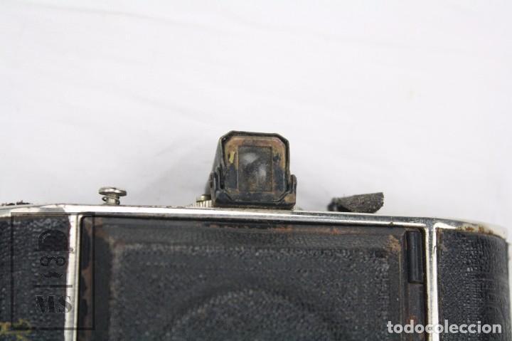 Cámara de fotos: Antigua Cámara Fotográfica de Fuelle - Baldi, de Balda - Objetivo Compur - Alemania, Años 30 - Foto 5 - 74387799