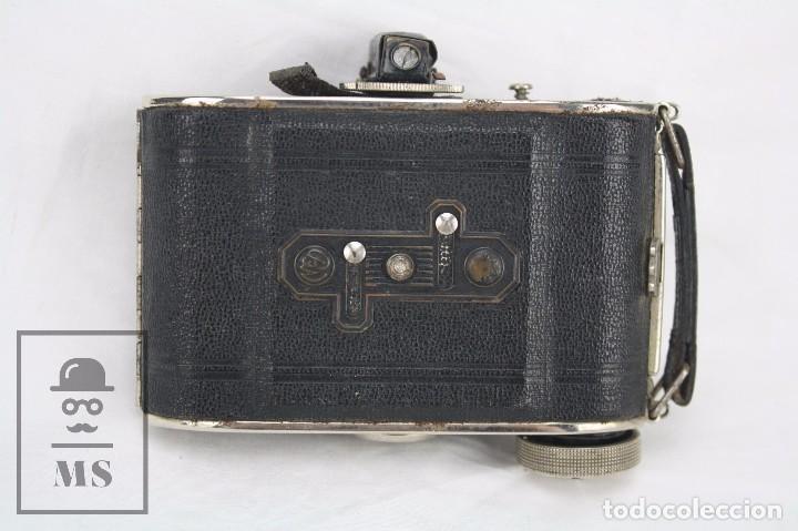 Cámara de fotos: Antigua Cámara Fotográfica de Fuelle - Baldi, de Balda - Objetivo Compur - Alemania, Años 30 - Foto 6 - 74387799