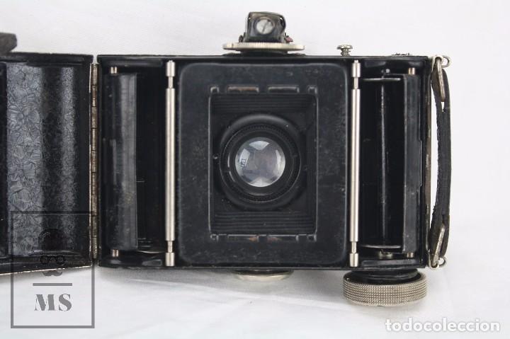 Cámara de fotos: Antigua Cámara Fotográfica de Fuelle - Baldi, de Balda - Objetivo Compur - Alemania, Años 30 - Foto 10 - 74387799