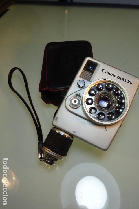 CURIOSA CÁMARA DE FOTOS CANON MODELO DIAL 35 - 28MM - 1:2,8 - CON FUNDA - (Cámaras Fotográficas - Clásicas (no réflex))