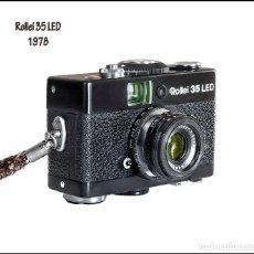 Cámara de fotos: ROLLEI 35 LED, (VERSION NEGRA), PEQUEÑA Y EXQUISITA CÁMARA ALEMANA DE 1978. BUEN ESTADO GENERAL.. Lote 85353180