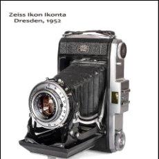Cámara de fotos - ZEISS IKON IKONTA (VERSION 523/2) SUGESTIVA CÁMARA PLEGABLE ALEMANA DE 1952. ÓPTIMO ESTADO - 88117548