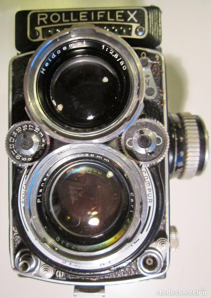 CAMARA ROLLEIFLEX 2.8E 1958/59 6X6 EL SELECTOR DE VELOCIDAD BLOQUEADO EN 1SG (VER NOTAS) (Cámaras Fotográficas - Clásicas (no réflex))