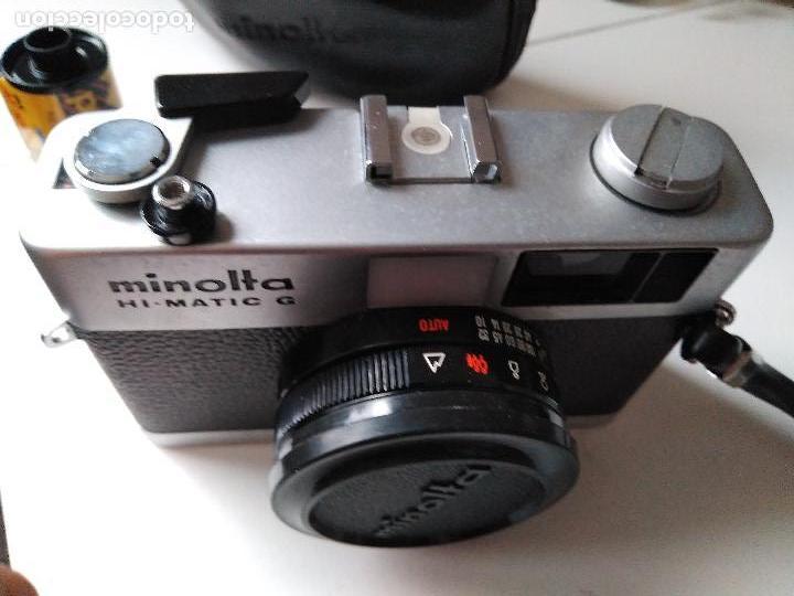 Cámara de fotos: ANTIGUIA CÁMARA FOTOGRÁFICA MINOLTA HI-MATIC - G con flash y fundas - Foto 7 - 93934265