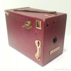 Cámara de fotos: EL MODELO MÁS LUJOSO DE ANSCO: LA BUSTER BROWN SPECIAL Nº2 DE 1925, EN GRANATE Y DORADO. PRECIOSA. Lote 95416275