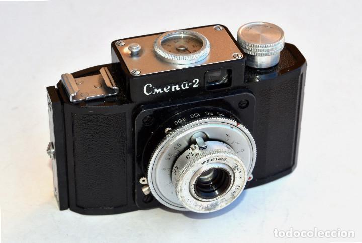 Cámara de fotos: *1953-56* • GOMZ URSS Lomo SMENA 2 Obj. f4.0 Clásica baquelita (35mm) - Foto 2 - 95494823