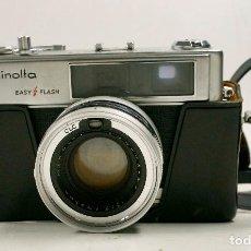 Cámara de fotos: MINOLTA HI-MATIC, OBJ. 45MM. EN FUNCIONAMIENTO. CON FUNDA ORIGINAL. Lote 97670411