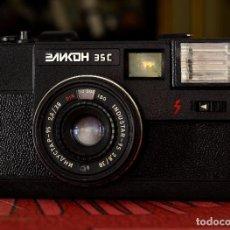 Cámara de fotos: CLÁSICA EX-SOVIÉTICA ELICON 35-C + FUNDA ORIGINAL. Lote 98617695