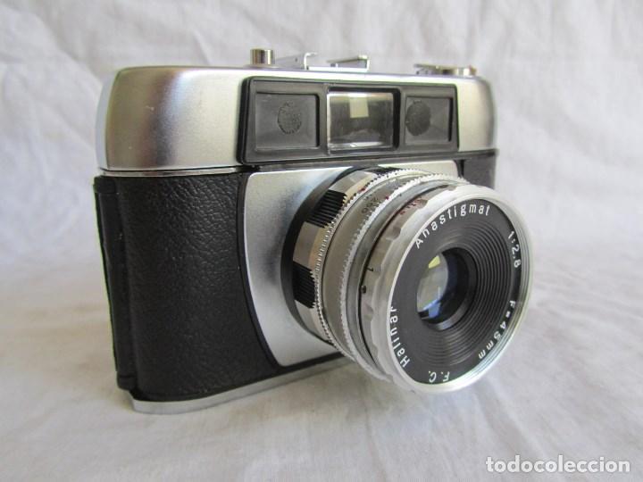 Cámara de fotos: Cámara fotográfica Halina Paulette Made in Hong Kong Anastigmat Funda original - Foto 2 - 100310215