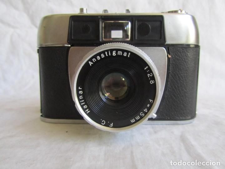 Cámara de fotos: Cámara fotográfica Halina Paulette Made in Hong Kong Anastigmat Funda original - Foto 3 - 100310215