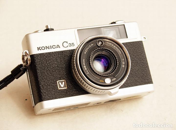 Cámara de fotos: *c1971* • Konica C35 'V' Hexanon f2.8 • Compacta 35mm Fotómetro CdS - Foto 2 - 100501787