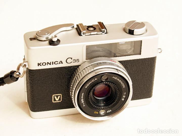 Cámara de fotos: *c1971* • Konica C35 'V' Hexanon f2.8 • Compacta 35mm Fotómetro CdS - Foto 5 - 100501787