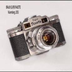 Cámara de fotos: BRAUN SUPER PAXETTE, PEQUEÑA TELEMÉTRICA ALEMANA DE 1953. MUY BUEN ESTADO.. Lote 100722011