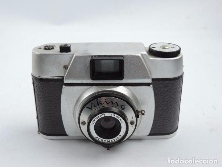 CAMARA VIKING, OBJETIVO VIKINAR ACROMATICO, 1:6,3 48MM, COMPACTA FABRICADA EN ESPAÑA, AÑO 1950 / 60, (Cámaras Fotográficas - Clásicas (no réflex))