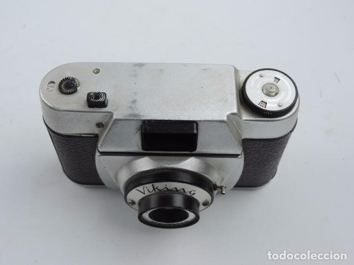 Cámara de fotos: CAMARA VIKING, OBJETIVO VIKINAR ACROMATICO, 1:6,3 48MM, Compacta FABRICADA EN ESPAÑA, AÑO 1950 / 60, - Foto 3 - 102770103