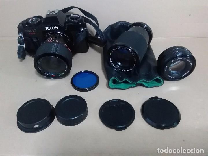 MAQUINA FOTOGRÁFICA RICOH Y VISORES (Cámaras Fotográficas - Clásicas (no réflex))