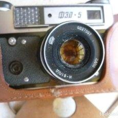 Cámara de fotos: CÁMARA FED 5 CON SU FUNDA - FABRICADA EN LA URSS - RUSIA - RUSA. Lote 104017911