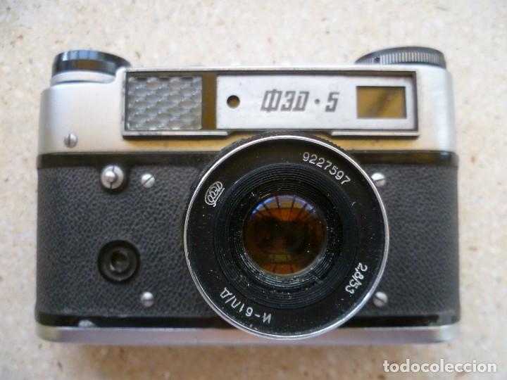 Cámara de fotos: CÁMARA FED 5 CON SU FUNDA - FABRICADA EN LA URSS - RUSIA - RUSA - Foto 3 - 104017911