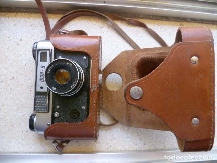Cámara de fotos: CÁMARA FED 5 CON SU FUNDA - FABRICADA EN LA URSS - RUSIA - RUSA - Foto 11 - 104017911
