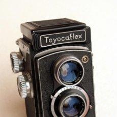 Cámara de fotos: *C1955* • TOUGODO TOYOCAFLEX I TRI-LAUSAR F3.5 • TLR BIÓPTICA JAPONESA 6X6 (FUNDA). Lote 105243283