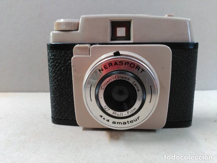 Cámara de fotos: CAMARA DE FOTOS NERASPORT, DE BAQUELITA, CON FUNDA ORIGINAL - Foto 2 - 109895035