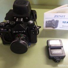 Cámara de fotos - CÁMARA FOTOGRÁFICA ZENIT 12 XP + MANUAL+FUNDA + FLASH UNOMAT polo LZ20/GN64 + FLASH PANASONIC PE-145 - 110399195