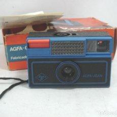 Cámara de fotos: CAMARA FOTOS - AGFA JEAN EN CAJA - LOMO - 35 MM RAPID FILM - SPAIN AÑOS 70 ¡¡M.B.E ¡¡¡ JEANS. Lote 111720459