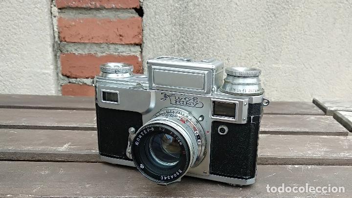 Cámara de fotos: Cámara de colección - KIEV 3 A - Modelo de la Primera serie - Foto 5 - 112701759