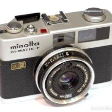 Cámara de fotos: CÁMARA MINOLTA HI-MATIC F, SIN BATERIA, NO SE SI FUNCIONA. Lote 113270159