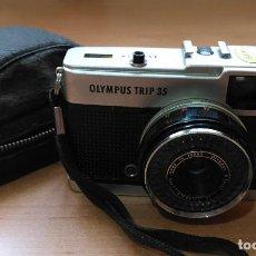 Cámara de fotos: CÁMARA FOTOGRÁFICA OLYMPUS TRIP 35 CON SU FUNDA ORIGINAL. Lote 116408031