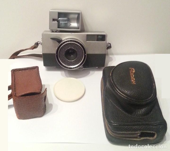 RICOH AUTO 35 DE 1960, CON FLASH Y FUNDAS. MADE IN JAPAN (Cámaras Fotográficas - Clásicas (no réflex))