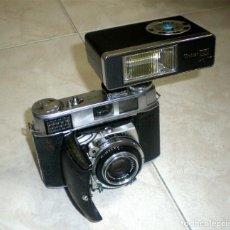 Cámara de fotos: CAMARA FOTOGRAFICA KODAK RETINA IB CON FUNDA Y FLASH. Lote 118643887