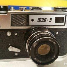 Cámara de fotos: EXCEPCIONAL CAMARA RUSA FED 5 !.!.! VER FOTOS !.!.! FED 5 URSS. Lote 122940799