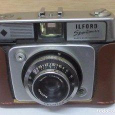 Cámara de fotos: CÁMARA DE FOTOS ILFORD SPORTSMAN (WESTERN GERMANY) CON FLASH, EN SU FUNDA ORIGINAL. Lote 126027795