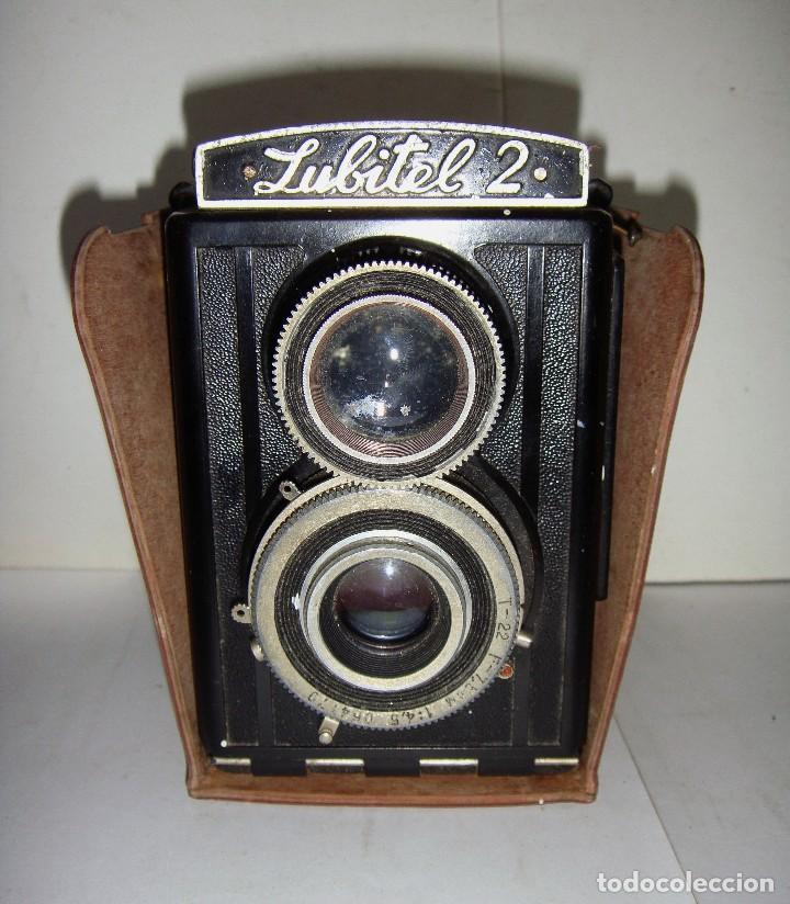 CAMARA FOTOGRAFICA. LUBITE 2 TLR .RUSA. OBJETIVO (LOMO T22 75MM F 4,5) AÑO 1955. (Cámaras Fotográficas - Clásicas (no réflex))