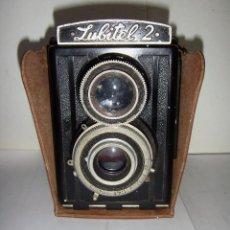 Cámara de fotos: CAMARA FOTOGRAFICA. LUBITE 2 TLR .RUSA. OBJETIVO (LOMO T22 75MM F 4,5) AÑO 1955.. Lote 126547811