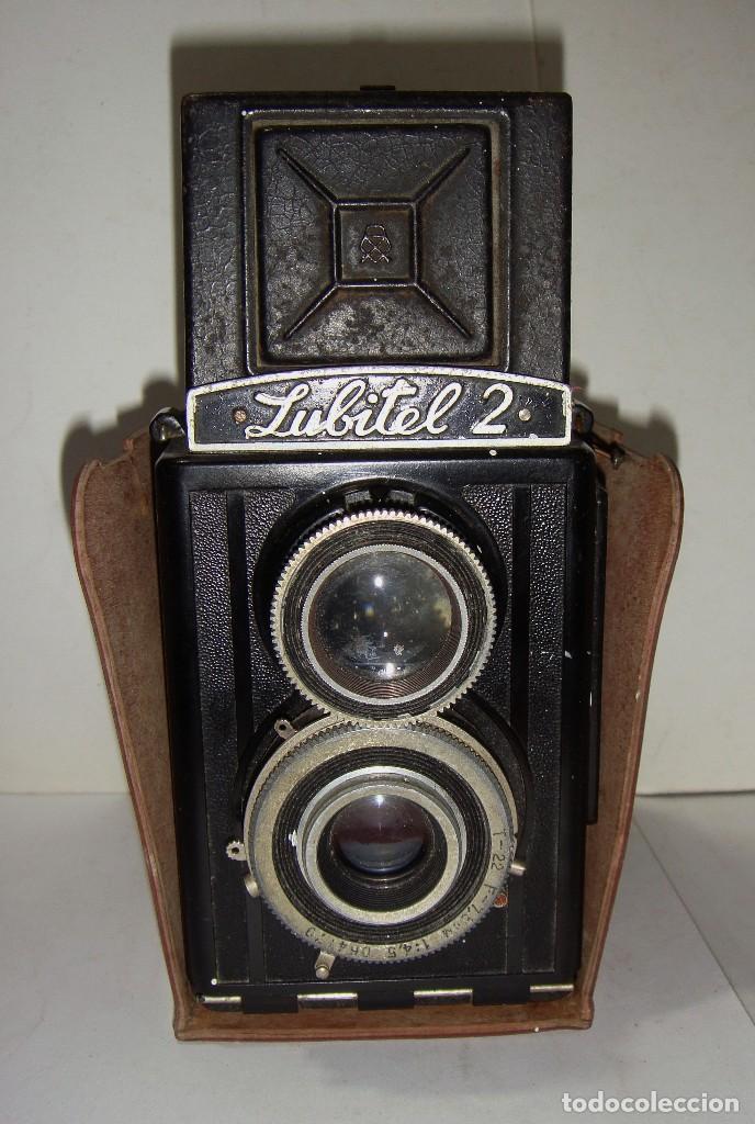Cámara de fotos: Camara fotografica. LUBITE 2 TLR .Rusa. Objetivo (Lomo T22 75mm f 4,5) Año 1955. - Foto 3 - 126547811