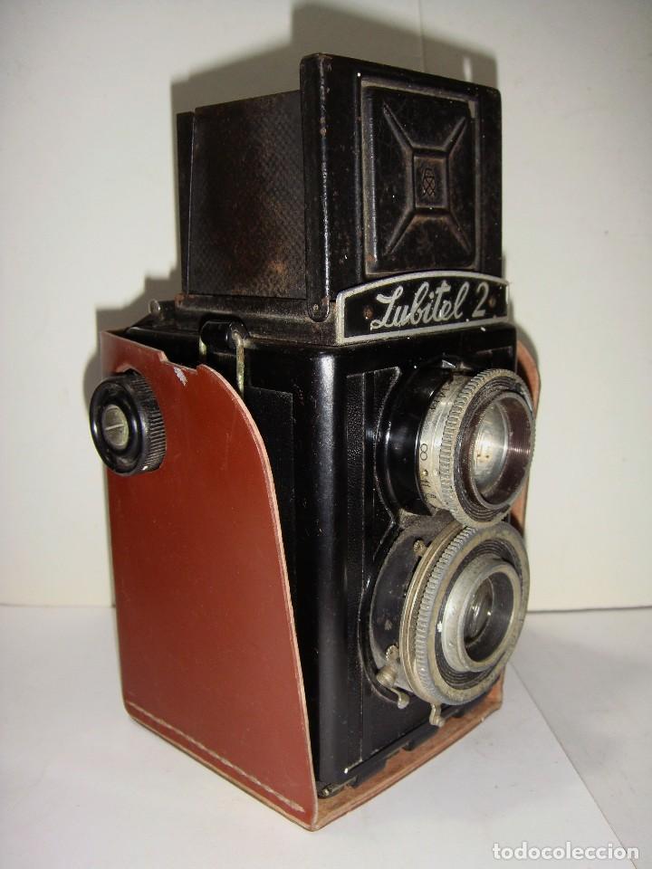 Cámara de fotos: Camara fotografica. LUBITE 2 TLR .Rusa. Objetivo (Lomo T22 75mm f 4,5) Año 1955. - Foto 4 - 126547811