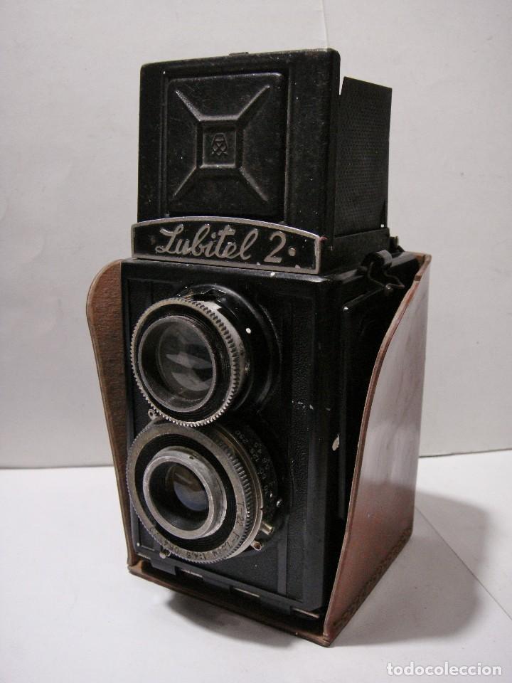 Cámara de fotos: Camara fotografica. LUBITE 2 TLR .Rusa. Objetivo (Lomo T22 75mm f 4,5) Año 1955. - Foto 5 - 126547811