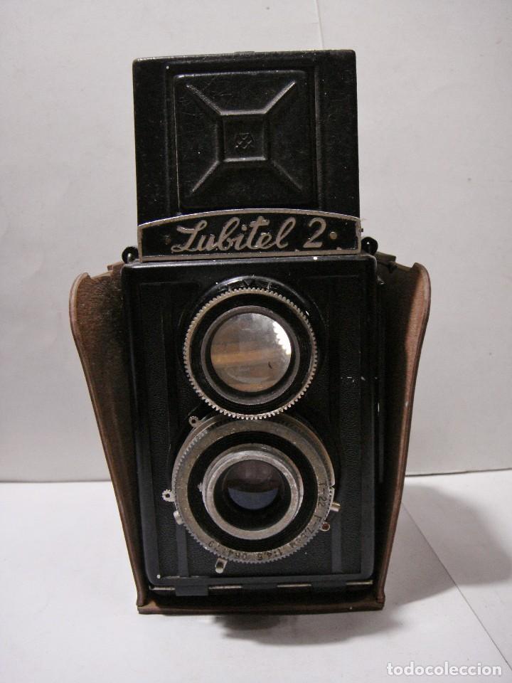Cámara de fotos: Camara fotografica. LUBITE 2 TLR .Rusa. Objetivo (Lomo T22 75mm f 4,5) Año 1955. - Foto 6 - 126547811