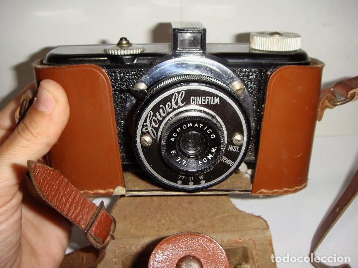 Cámara de fotos: Cámara fotográfica. FOWELL CINEFILM 35 mm BAQUELITA CON FUNDA ORIGINAL - Foto 3 - 126548647
